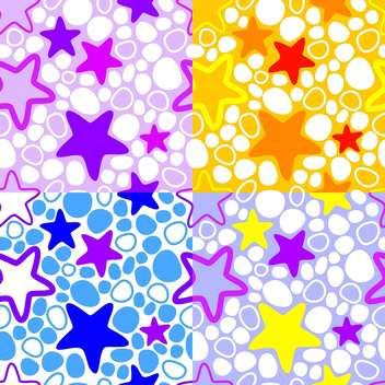 Vector colorful background with stars - vector #127473 gratis