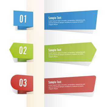 Vector set of colorful banners on white background - vector #127503 gratis
