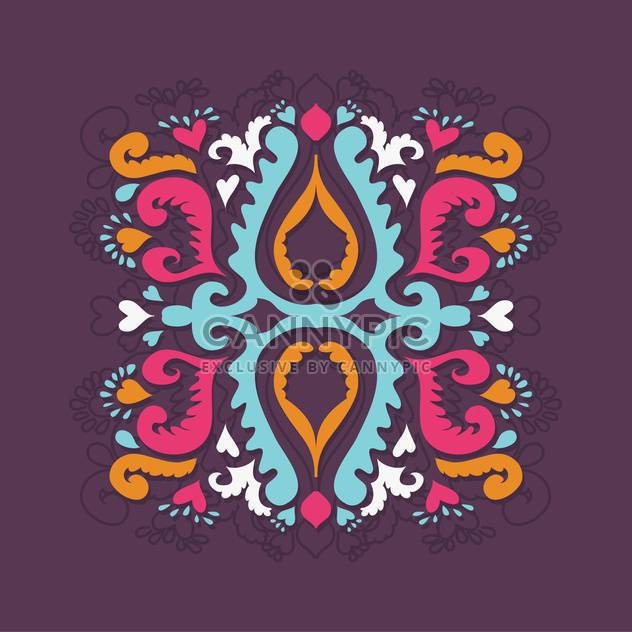 Vector retro-styled floral background with colorful pattern - Free vector #127593