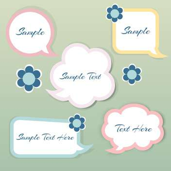 vector set of paper speech bubbles with text place - vector gratuit #127713