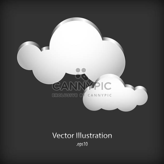 Speech cloud bubbles on dark background - Free vector #127763