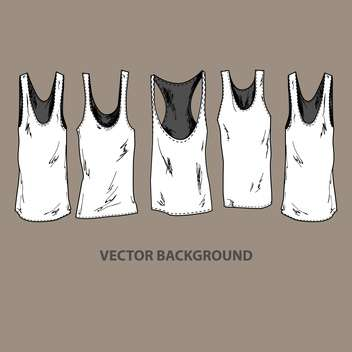 Vector illustration of grunge fashion t-shirts - бесплатный vector #127773