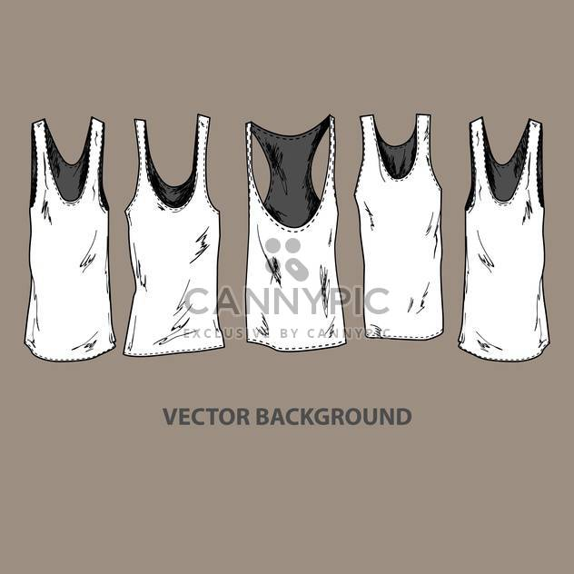 Vector illustration of grunge fashion t-shirts - Free vector #127773