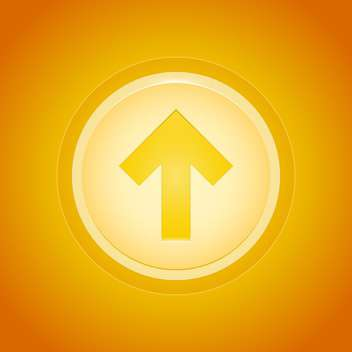 golden button arrow up direction - vector gratuit #127783