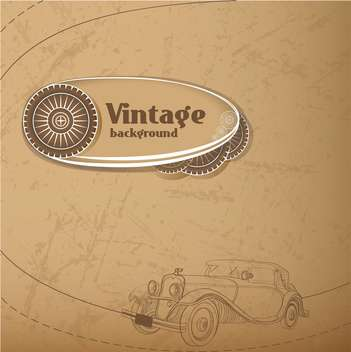 Vector vintage background with old car - vector gratuit #127863