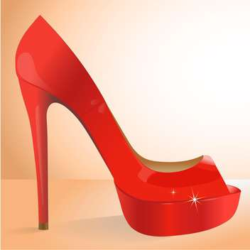 vector illustration of female red shoe - Free vector #127923