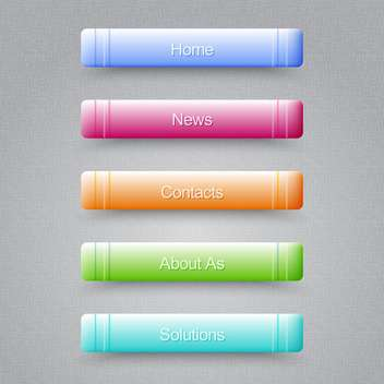 Modern colored buttons For Website on grey background - vector #128043 gratis