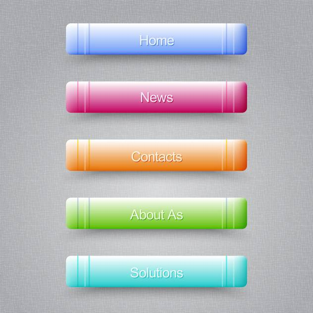 Modern colored buttons For Website on grey background - vector gratuit #128043