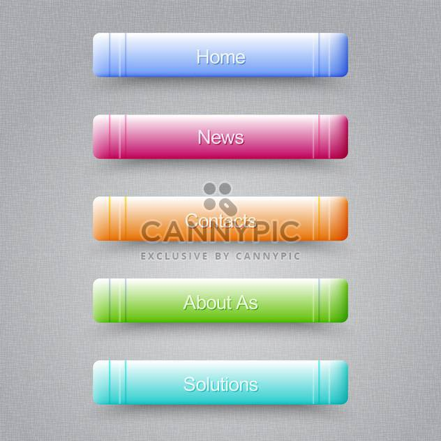 Modern colored buttons For Website on grey background - Free vector #128043