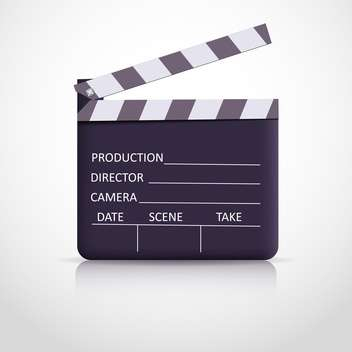 clapper board on white background - vector gratuit #128053