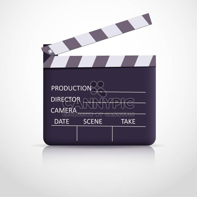 clapper board on white background - Free vector #128053