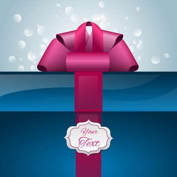 Vector gift box with ribbon and text place - Kostenloses vector #128073