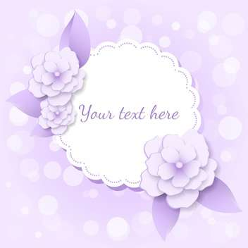 vector frame with violet flowers and colorful - vector gratuit #128083