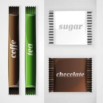 vector set of design food elements - бесплатный vector #128093