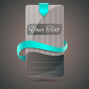 Modern shiny banner with blue ribbon vector illustration. - vector gratuit #128173