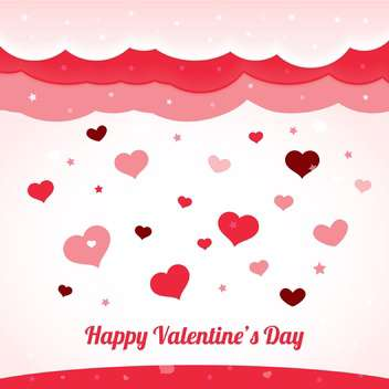 valentines greeting card with hearts, vector background - vector #128263 gratis