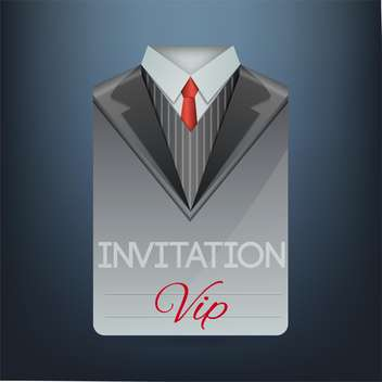 VIP invitation in the form of a suit, vector illustration - vector gratuit #128273
