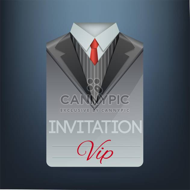 Vip invitation in the form of a suit, vector illustration - Free vector #128273
