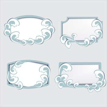 Set with vector frames and waves - vector #128303 gratis