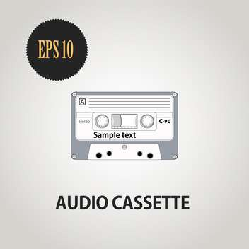 old vector compact audio cassette - vector gratuit #128343
