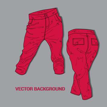 Red casual women pants - vector gratuit #128363