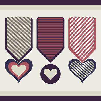 Heart form vector medals - бесплатный vector #128373