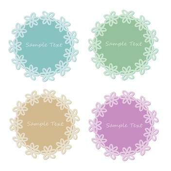 Vector set of lace frames with sample text - vector #128453 gratis