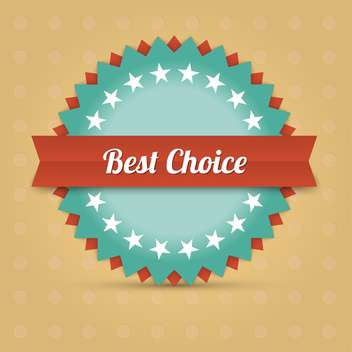 Vector label with best choice text - vector gratuit #128473