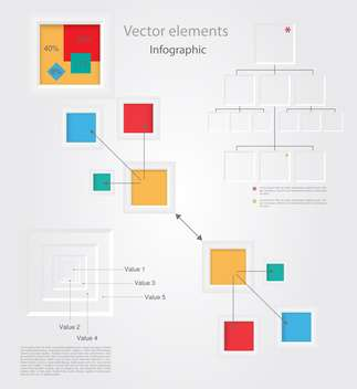 Vector set of Infographic Elements - vector gratuit #128483