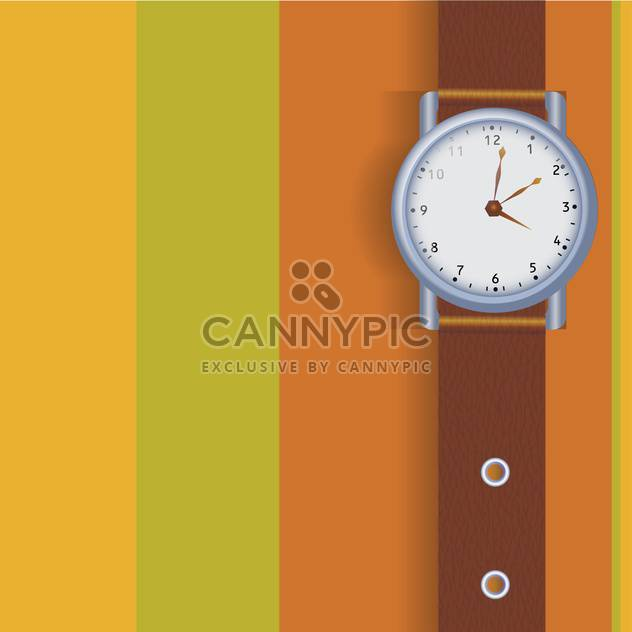 Vector illustration of hand watch - Free vector #128503
