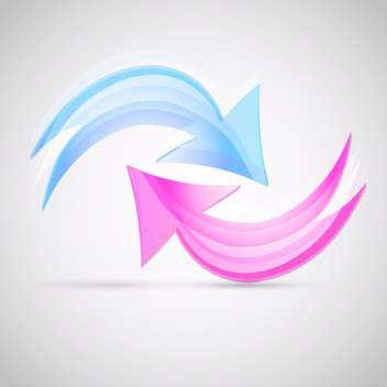 Two vector arrows on white background - vector gratuit #128543
