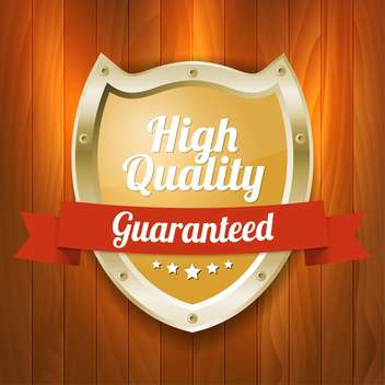 Vector shield badge with high quality guaranteed text - Free vector #128553