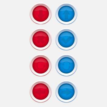 Vector web buttons with navigations icon - Free vector #128593
