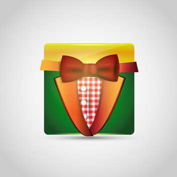 Vector icon of colored suit on the white background - бесплатный vector #128603