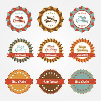 Set of vector stickers, badges, labels on sale theme - vector gratuit #128643