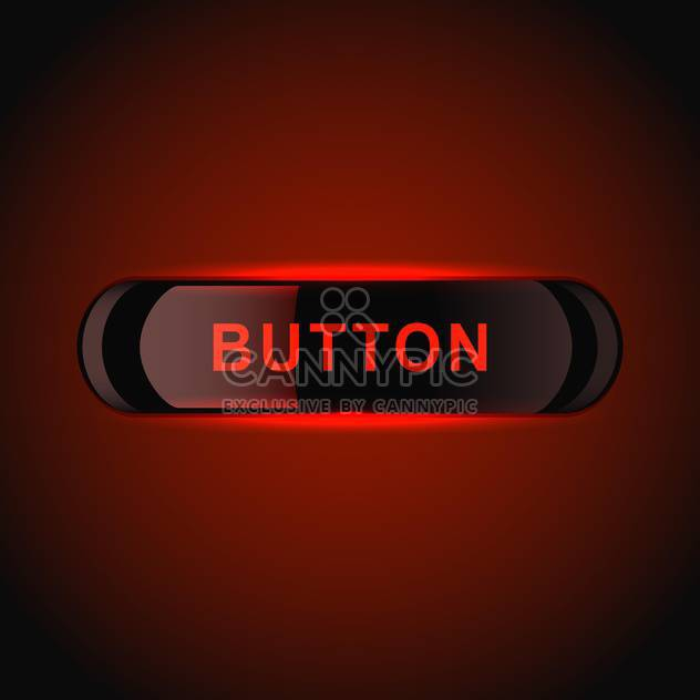 Red glowing vector button on red background - Free vector #128783