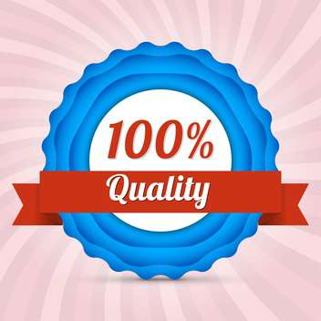 Vector badge of hundred percent quality - vector gratuit #128803