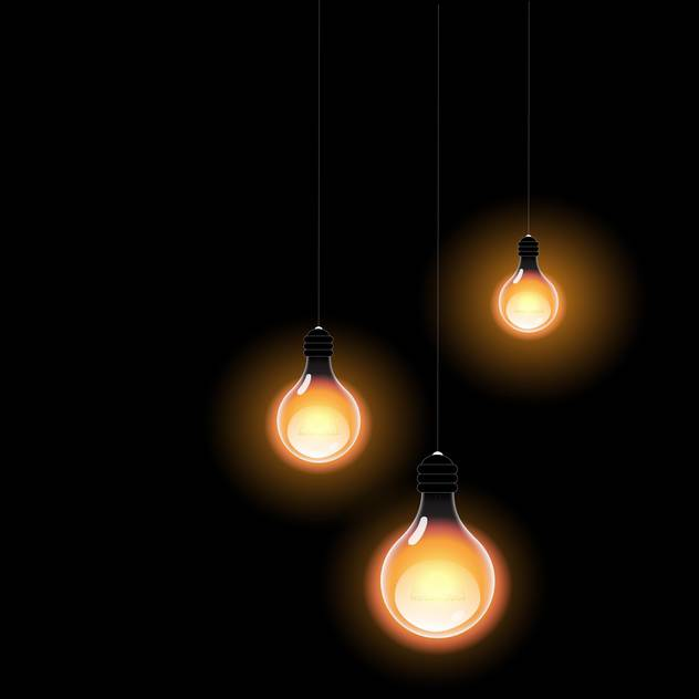 Glowing in the dark light bulbs vector illustration - vector #128823 gratis