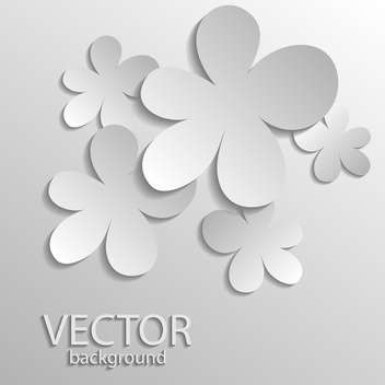 Vector illustration of silver gradient flowers - vector gratuit #128853