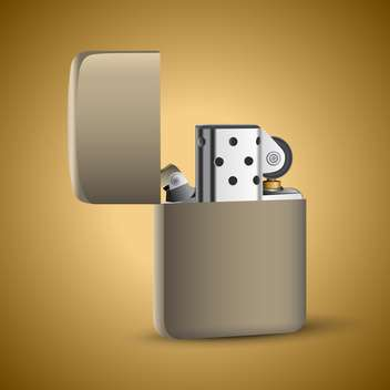 Vector illustration of open gazoline cigarette lighter - Free vector #128903