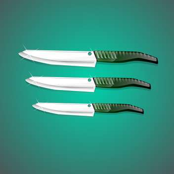 vector kitchen knives set - Free vector #128973