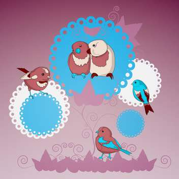 vector collection of lovely birds - vector #128983 gratis