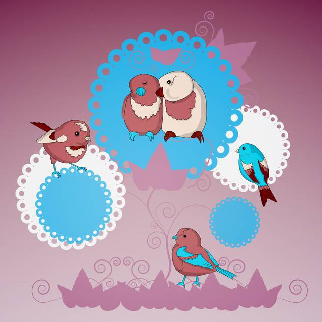vector collection of lovely birds - Free vector #128983