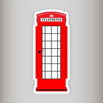 telephone booth vector illustration - vector gratuit #129003