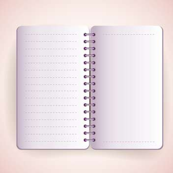 vector open notepad texture - Free vector #129013