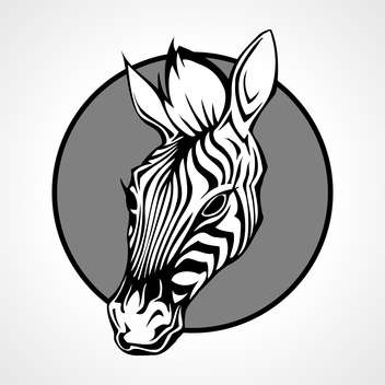 zebra animal muzzle illustration - vector #129023 gratis