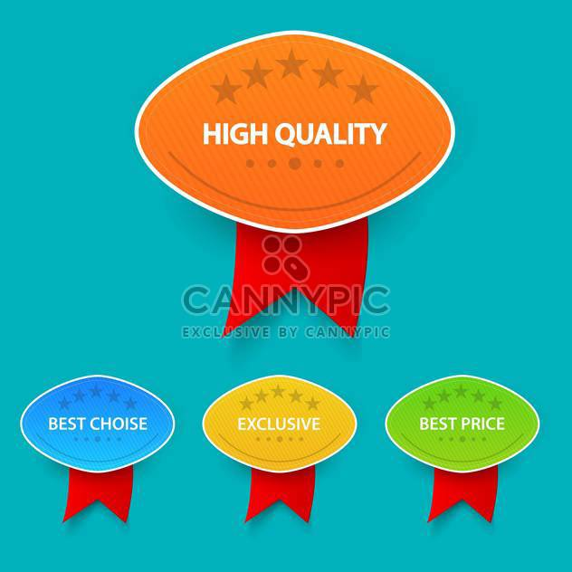 colorful shopping sale badges collection - Free vector #129063