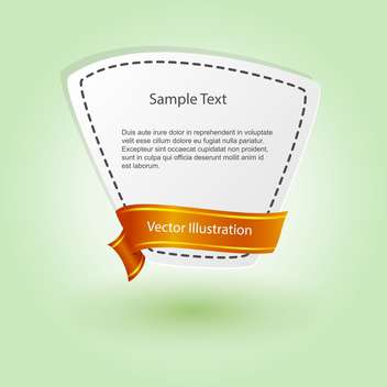 vector blank banner with ribbon - бесплатный vector #129193
