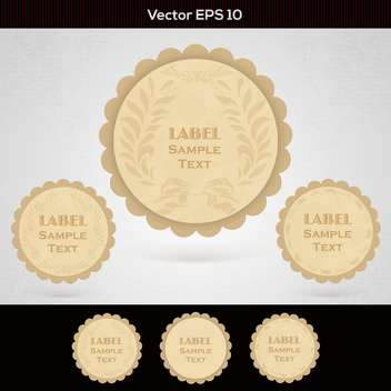 set of wooden vector labels - vector gratuit #129223