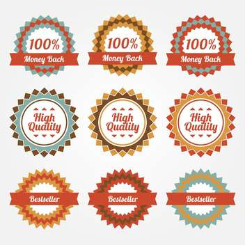 collection of sale badges and labels - vector gratuit #129233